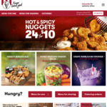 Free Regular Chips and Drink with Any Burger Ordered at KFC (via App)