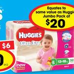 Huggies Ultra Dry & Ultimate Newborn Nappies $10 @ Ritchies IGA