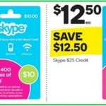 ½ Price Skype Gift Cards @ Woolworths