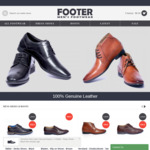 Click Frenzy Sale - 50% Off & Free Shipping on Orders Over $99 of Men's Leather Shoes & Boots @ Footer.com.au