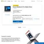 [Pre-Order] Huawei Matebook X Pro: Mystic Silver i5 256GB $1699, Space Grey i7 512GB $2299 Delivered @ Microsoft Store