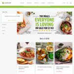 $25 off $69 Spend @ Youfoodz (e.g. 9 Best of 2018 Meals for $46.55 Delivered)