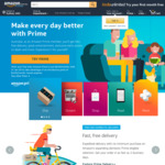 Amazon AU Prime (Inc Free 2 Day Shipping) for $4.99 P/M until 31/01/2019 ($6.99 Thereafter) or $59/Year + 30 Day Free Trial