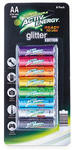 """Activ Energy 2100mAh Rechargeable """"Glitter Edition"""" AA Batteries 8 Pack $12.99 @ ALDI"""