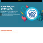 40GB Data | 10,000 Flybuys Points | Google Home | 12M Contract - $40/Month @ Optus