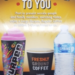 Free Regular Coffee, Large Slurpee or 7-Eleven 600ml Water for Service People and Family Members Today @ 7-Eleven