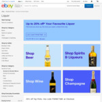 10% off $80, 20% off $120 Spend at Selected Liquor Sellers @ eBay