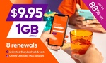 8x28-Days of amaysim Unlimited 1GB Mobile Plan $8.46 @ Groupon