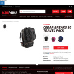 Black Wolf Cedar Breaks 90L Travel Pack $160 + Free Shipping (with Sign up) @ Black Wolf Australia