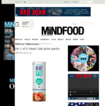 Win 1 of 5 Heart Salt Prize Packs Worth $49 from MiNDFOOD