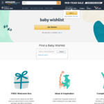 Free Baby Welcome Box (Valued $200) with Purchases over $59 from Baby Wishlist @ Amazon AU