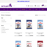 $20 off Your Order on Select Brands (Royal Canin, Ivory Coat, Advance & Healthy Everyday Pets) @ Net to Pet