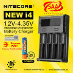 Nitecore New i4 Battery Charger + 8X 1.2v 900mAh AAA Rechargeable Batteries - $31.92 Delivered @ Lanplus Australia eBay