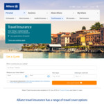 20% off Travel Insurance @ Allianz