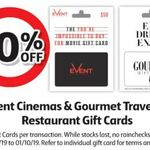 10% off Event Cinemas Gift Card @ Coles (in-Store Only)