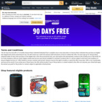 Free 3 Month Amazon Music Unlimited with Purchase @ Amazon.com