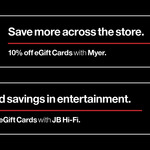 10% off JB Hi-Fi/Myer Gift Cards @ Youi Rewards (Customers Only)
