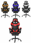 Ergonomic Gaming Chair & Foot Rest - Red/Blue/Gold $59.99 US (~$88.26 AU) Delivered @ Banggood (AU Stock)