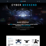 Free HTC Vive Wireless Adapter and 1 Year Viveport Membership When Buying with HTC Vive Pro or HTC Vive Pro Eye (Worth $599)