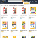 Back to School Discounts Save from 50% to 72% of BIC Pens + Delivery ($0 with Prime / $39 Spend) @ Amazon Australia
