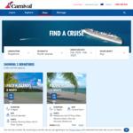 Sydney, Noumea, Mare, Isle of Pines, Cruise Balcony $1099pp Twin Share on Carnival Splendor (8 Nights, Feb 10) @ Carnival