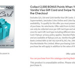 2000 flybuys Points (Worth $10) with $100 Vanilla Visa Gift Card (Activation Fee $5.95) @ Coles