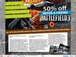 Battlefield 3 CD Key for ~$16AUD/£10.25 (after Referring 5 Friends Though) - CJS CD Keys