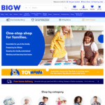 5x Woolworths Rewards Points on Clothing + 5x Points Toys + 1000 Points @ Big W