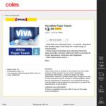 Viva Paper Towel 3 Pk (60 Sheets) - $3 @ Coles