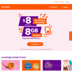 $8 (Was $20) for First 3 Renewals of amaysim Unlimited 8GB (Was 5GB), Get 8GB as Long as You Stay on The Plan