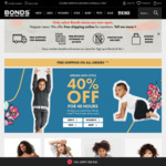 Bonds 40% off for 40 Hours with Free Shipping