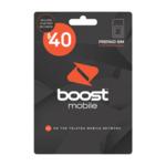 $10 Cashback on Boost $40 Prepaid SIM Kit for $20 (New Customers Only) via GoCashBack