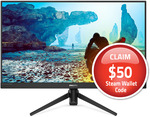 """Philips 275M8 27"""" 144hz QHD Monitor + $50 Steam Gift Card - $439 ($376 Delivered w/ 15% Catch PayPal GC) @ Catch via Wireless1"""
