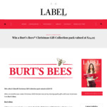 Win a Burt's Bees Christmas Gift Collection Pack Valued at $24.95 from Label Magazine
