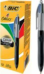 [Prime] BIC 4 Colours Grip Pro Retractable Ball Pen Medium Point (1.0 Mm) - Box of 12 Pens $8.74 Delivered @ Amazon AU