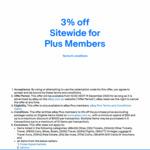[eBay Plus] 3% off Sitewide (Min Spend $30) @ eBay
