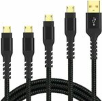 Micro USB Charging Cable (4 Pack 2x3ft 2x6ft) $6.84 + Delivery ($0 with Prime/$39 Spend) @ Arshcea Amazon AU
