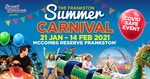 Win 10 Family Packs of 4 Unlimited Ride Wristband (worth $140) for the Frankston Summer Carnival from Free Kids Events