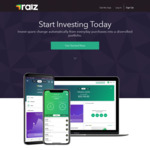 $10 Referral Bonus after First Investment (Was $5) (New Members Only) @ Raiz Investment App