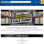 [QLD] Lighting Warehouse Clearance Sale Event - up to 90% off @ JD Lighting