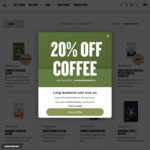20% off Coffee Beans + Delivery @ Campos Coffee