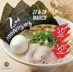 [VIC] Free Bowl of Tonkotsu Yatai Ramen + 50% off Ramen, Saturday & Sunday (27/3 & 28/3) @ Hakata Gensuke (Carlton)