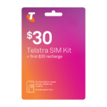Telstra $30 Pre-Paid SIM Starter Kit for $15 + Free Delivery @ Telstra (Online Only)
