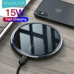 KUULAA 15W Qi Wireless Charger US$7.14 (~A$9.20) Delivered @ Kuulaa Factory Store AliExpress