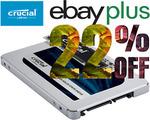 Crucial MX500 1TB SSD $119.20 ($116.22 eBay Plus), Crucial P2 1TB SSD $129.60 ($126.36 eBay Plus) @ Gg.tech365 eBay