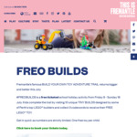 [WA] Free Build Your Own Toy (LEGO) Adventure Trail @ FREO BUILDS, Fremantle