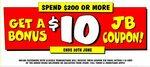 Spend $200 or More & Get a $10 Coupon @ JB Hi-Fi