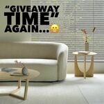 Win 2 Solid Oak Geometric Side Tables (Worth $1000) from ELYSIUM -HOME-