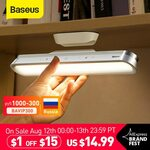 Baseus Magnetic Desk Lamp w/ Rechargeable 1800mAh Battery US$14.19 (~A$19.35) Delivered @ BASEUS Official Store  AliExpress