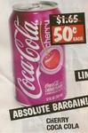 Cherry Coke Cans 50c - Slabs $12 - Treasure Hunters Sunshine VIC